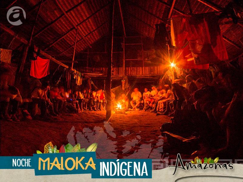 Banner noche maloka indigena